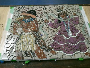 Dry Creek Rancheria Mosaic mural Project